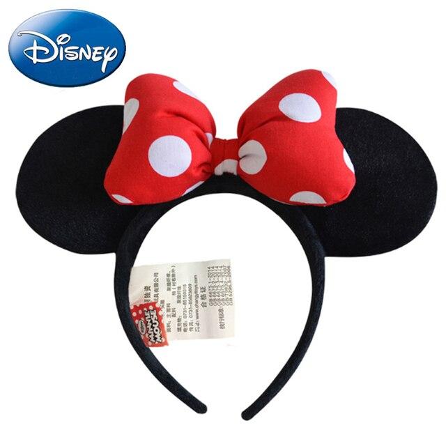 Disney Kids Arcos Bonito Minnie Mouse Ears Headband Do Partido Do Bebê Menina Adulto Mickey Mouse Suprimentos Cocar Acessórios Para o Cabelo Elástico