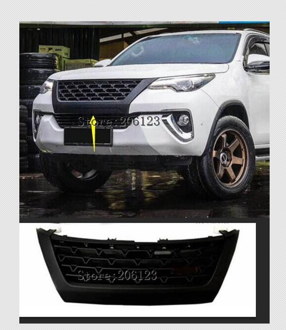 FREE SHIPMENT HIGH QUALITY FRONT RACING GRILL RAPTOR GRILLES FOR FORTUNER T R D type GRILL 2015-2017 for tuner black accessor