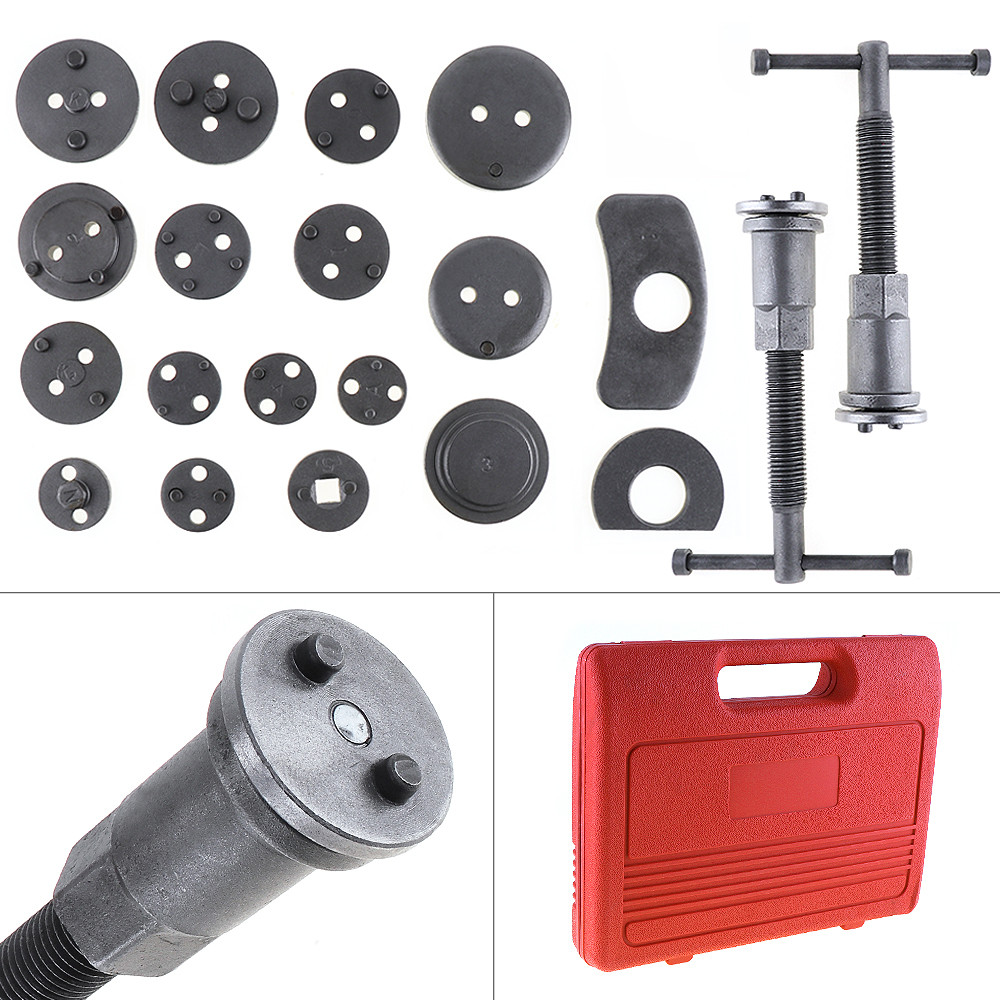 22pcs/Set Universal Butterfly Auto Car Disc Brake Caliper Wind Back Brake Piston Compressor Tool For Automobile Garage Repair 2 pair universal car 3d style disc brake caliper covers front rear