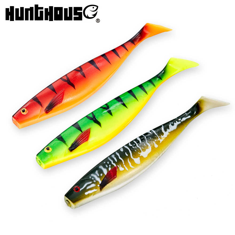 HUNTHOUSE big soft fishing lure teeze pro shad lure 120 150 180mm berserk sea fishing  bass decoy for fishing pike zander