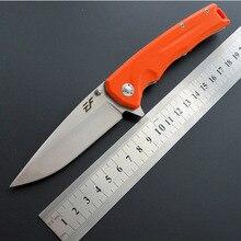 Горячая высокого качества складной нож открытый маленький прямой нож высокая твердость карманный нож D2 сталь+ G10 ручка складной нож