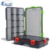 1 pçs caixa de isca de pesca accessary recipiente inserir cartão enfrentar caixas vermelho/verde lula suave isca pesca