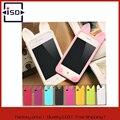 Alta calidad linda de la historieta del oído del gato 3d cajas del teléfono móvil caso de la cubierta de goma suave de silicona para iphone 4 4s