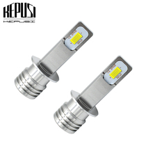 2x H1 Led Bulb Auto Fog Light Car Motor Truck Driving Daytime Running Light LED Bulbs Canbus 12V 24V for Cars White Error Free