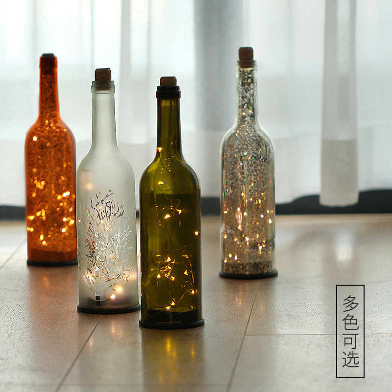 LED star wine bottle lamp bedroom bed star small night light bar living room bar decoration atmosphere desk lamp creative wine bottle lamp usb rechargeable pouring wine led night light table desk lamp gift diy home decoration party lights