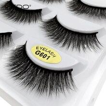 YSDO faux cilios 5 pairs mink eyelashes dramatic fluffy false eyelashes thick faux mink lashes 3D mink eyelashes make up lashes mink keer 5 s