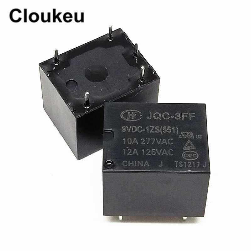 JQC-3FF-9VDC-1ZS 10A Relais DIP5 HF3FF-009-1ZS