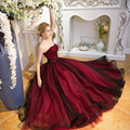 100%real major beading wine red black veil ball gown medieval dress Renaissance gown Sissi princess VictorianBelle Ball