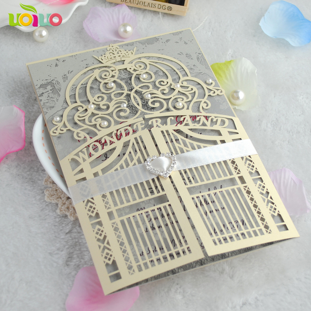 cheap magnetic luxury wholesale invitation cards with pearls on it