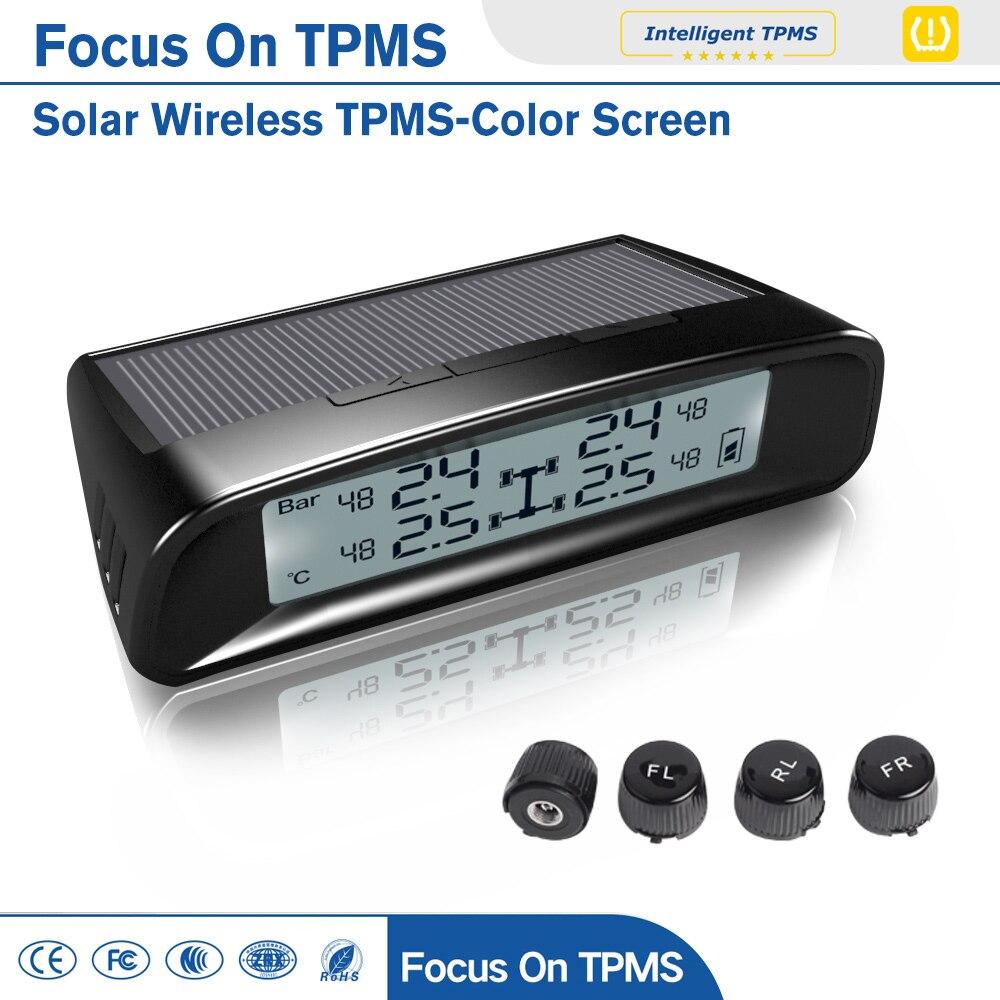 NEVERLAND Wireless Smart Car TPMS 12V Digital Tire Pressure Monitoring System Tire Pressure Alarm Car Electronics цена