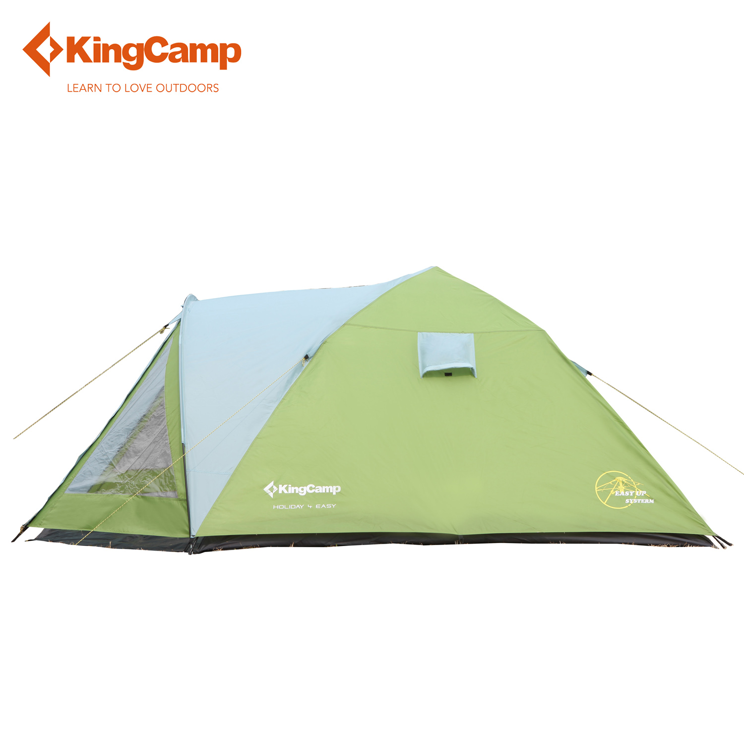KingCamp Holiday Easy-Up 4-Person 3-Season Outdoor Tent for Family Camping