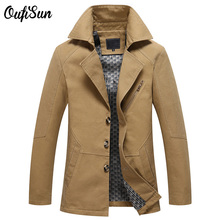 oufi sun Casual Men Jacket New Arrival Cool Slim Fit Style Autumn Spring Brand Clothing Army Cotton High Quality Coat Jacket Men