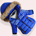 Boys Girls Winter Wadded Jacket  Thickening Outerwear 2016 Kids Medium-long Baby Fashion Hooded Cotton-padded Coat