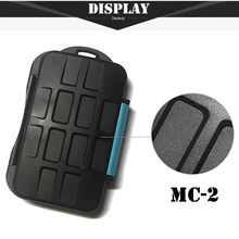 2017 Rushed Limited Black Free Shipping For Sd Card Holder Waterproof Extremely For Memory Case Mc-2 For 4 Cf Cards 8 Box(China)