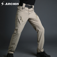 S Archon Urban Tactical IX9 Lightweight Military Cargo Pants Men Casual Quick Dry Breathable Stretch SWAT