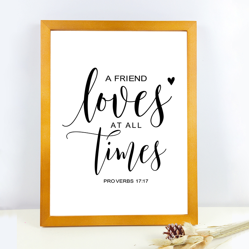 US $2.87 20% OFF|Bible Verse Thanksgiving Prints and Poster , Friendship  Quotes Scripture Canvas Painting Living Room Wall Art Home Decor-in  Painting ...