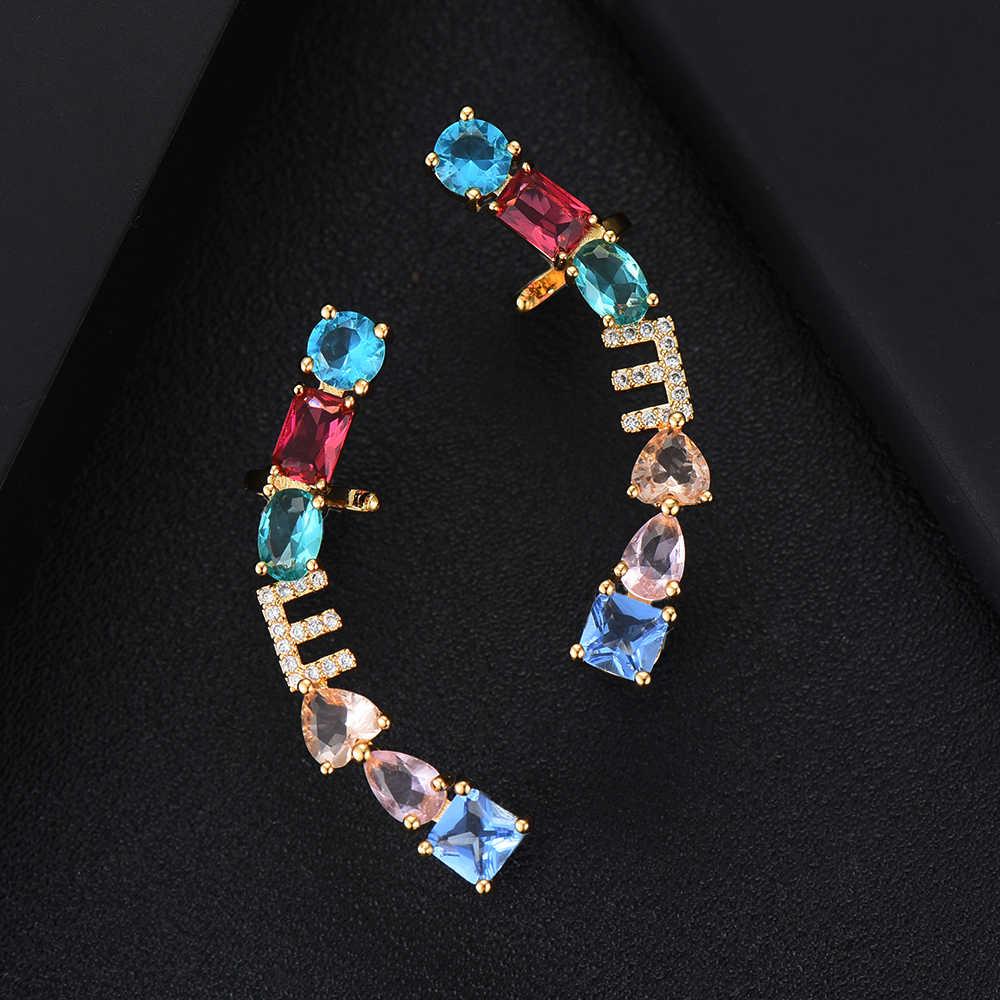 GODKI Luxus Exklusive Kleine Buchstaben Frauen Hochzeit Brasilianische Braut Zirkonia Halskette Ohrring Dubai Hohe Schmuck Sets