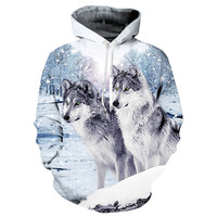 3D Wolf Printed Hoodies Men Brand Clothing Sweatshirts Unisex Jackets Quality Pullover Fashion Tracksuits Animal Coat Outerwear