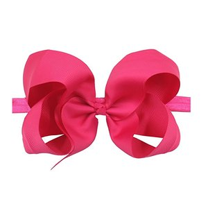"Image 4 - 30 צבעים 6 inch שיער קשתות BabyGirls סרטי ראש גדול 6 ""Bow רך גומייה עבור בfant יילוד פעוטות"