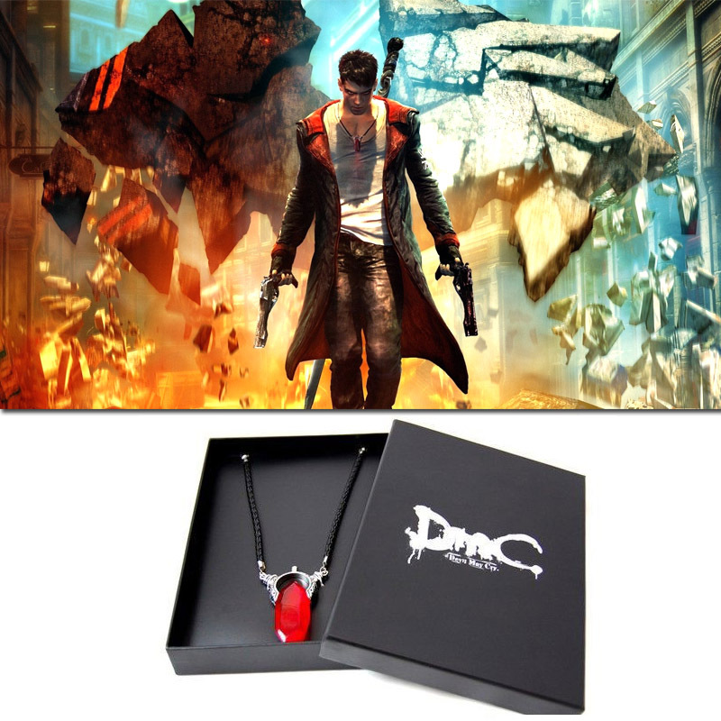 DMC Devil May Cry Dante's Vergil Crystal 925 Sterling Silver Pendant Necklace Capcom Official Limited Version Free Shipping медиа dmc devil may cry definitive edition