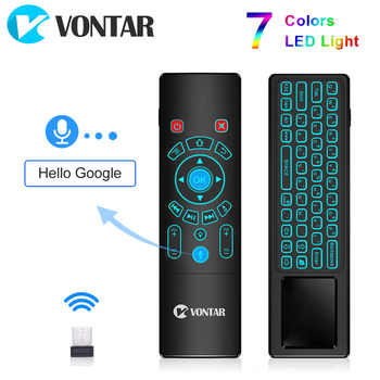 Voice Control Fly Air Mouse Gyro Sensing Game 2.4GHz Wireless keyboard Remote Control Microphone For Android Box X96Max X96mini - DISCOUNT ITEM  32% OFF All Category