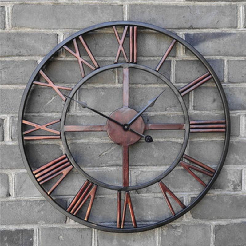 Large Outdoor Metal Wall Clock