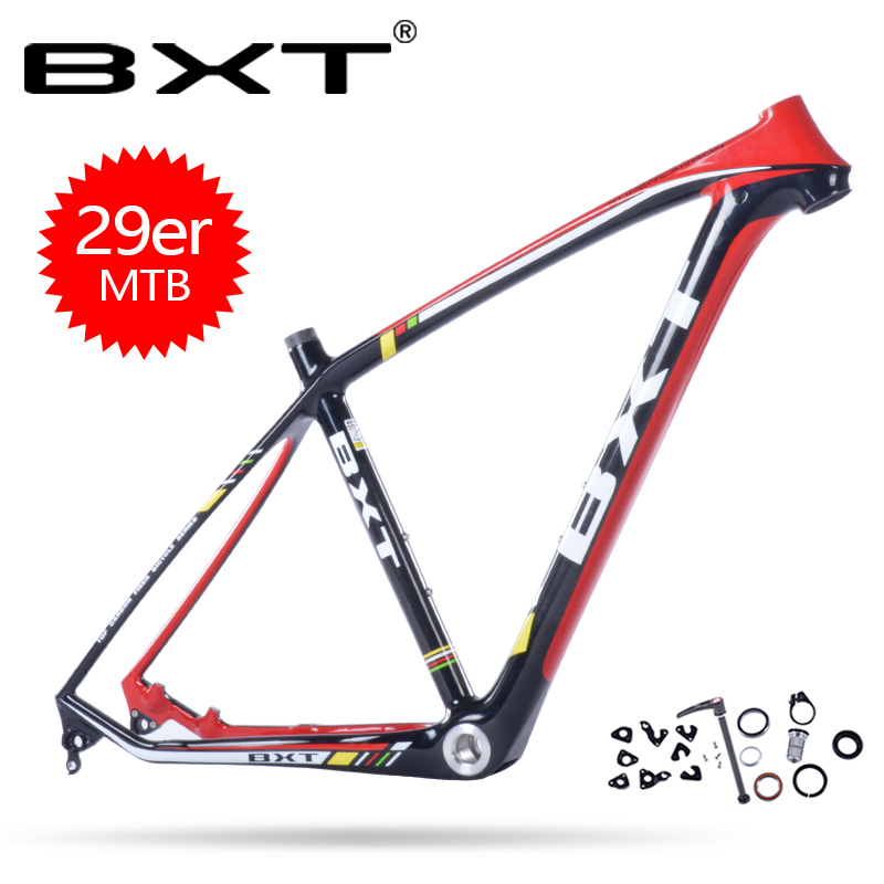 BXT 2018 New Products Cheap Carbon Mtb Frame Bike Bicycle Frameset Size 15.5-20.5inch Chinese Carbon Frames Cadre Carbone Route