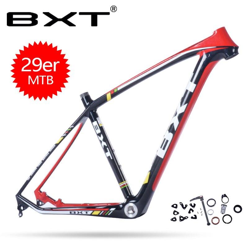BXT 2018 nouveaux produits pas cher carbone vtt cadre vélo cadre de vélo taille 15.5-20.5 pouces chinois carbone cadres cadre carbone route