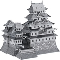 3D puzzle metal for adult 3 pieces 2015 new Russia Brazil  Himeji Castle 3D Nano metal DIY brinquedos board game for kids Gifts