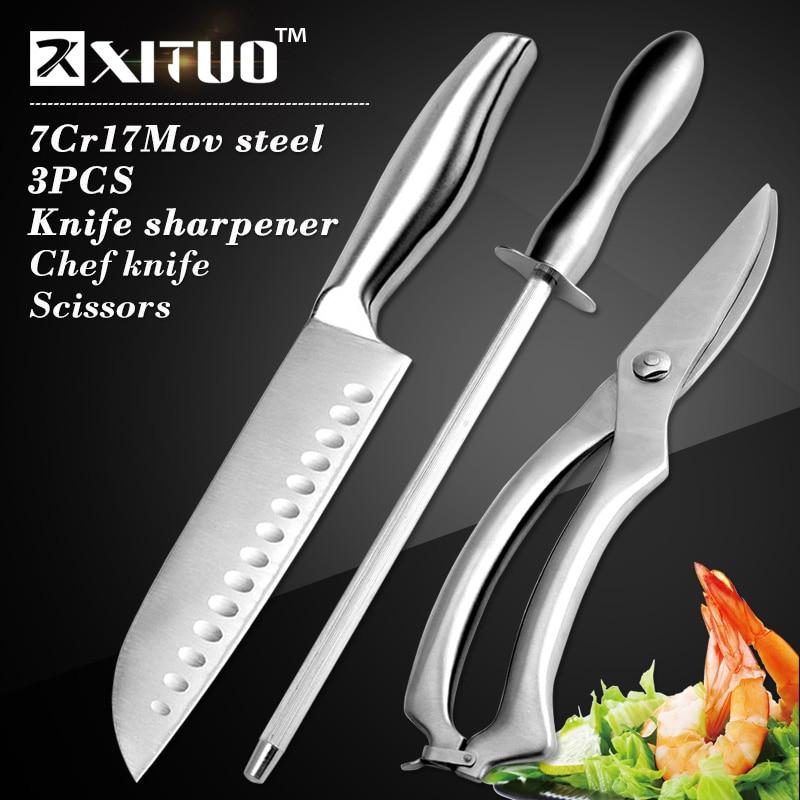 XITUO 3 adet Mutfak setleri japon mutfak bıçağı 7