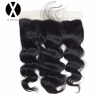 X Elements Hair Body Wave 13 4 Lace Frontal With Baby Hair Human Non Remy Brazilian