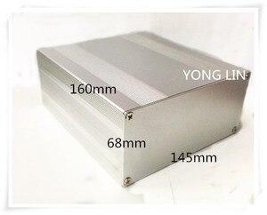 1 шт. алюминиевая коробка/корпус коробка электронный 145*68-160 усилитель коробка/корпус коробка