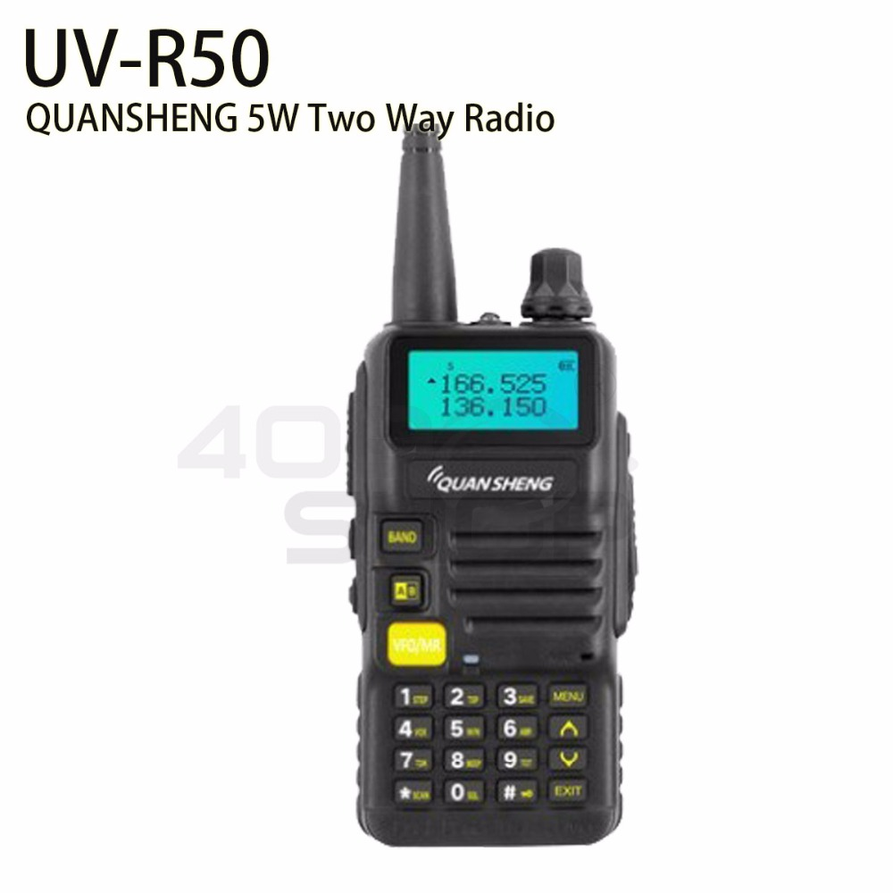QUANSHENG UV-R50 UHF/VHF dual band two way radioQUANSHENG UV-R50 UHF/VHF dual band two way radio
