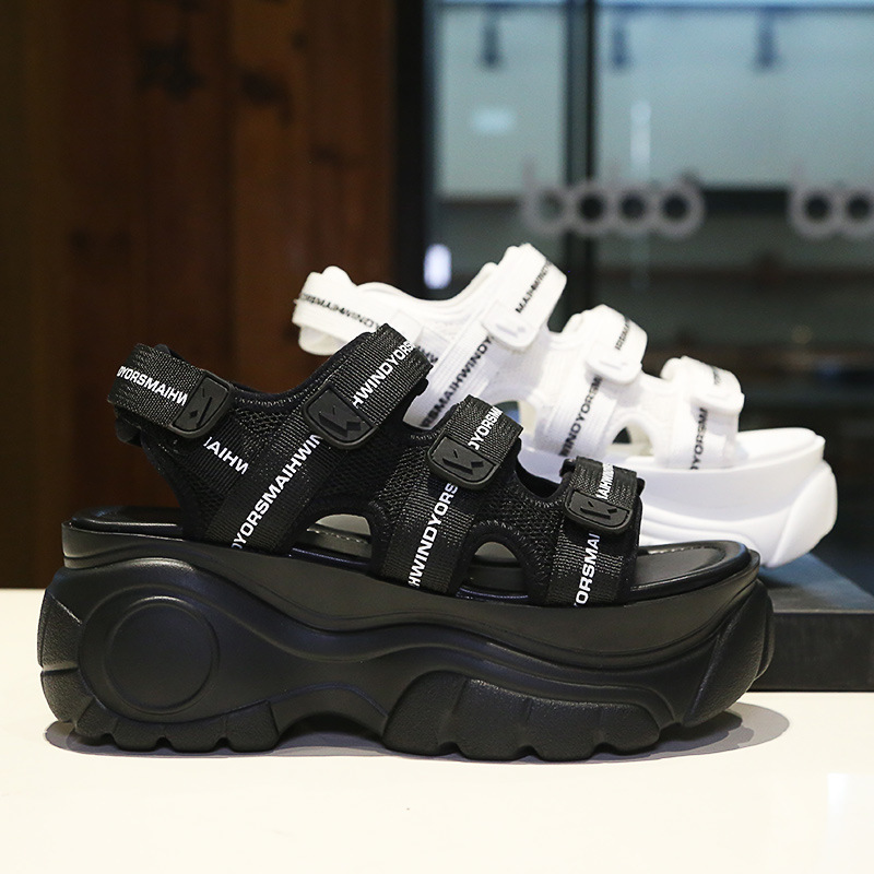 Keile Strand Weiß Erhöhte Dicke 2019 Sandalen Frauen Jookrrix Schwarzes Cm Sohle Marke Schwarz Mode Hohe Dame Sandale Plattform 7 weiß q0750FYw
