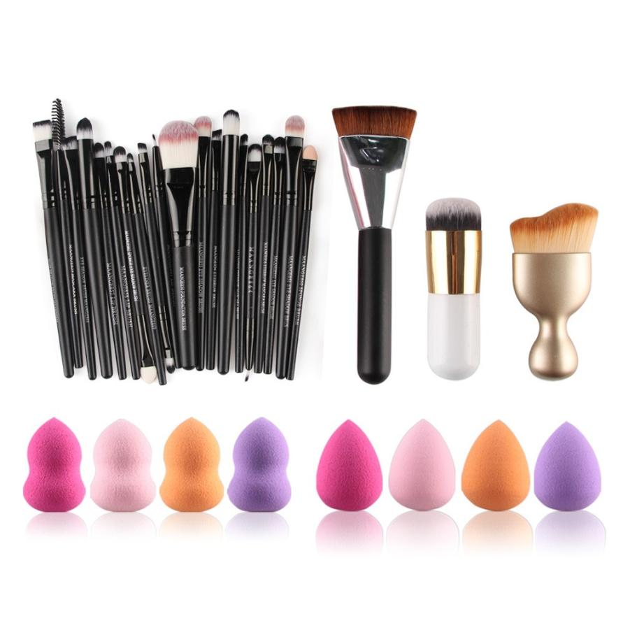 2017 hot sale makeup brushes 6PCS Cosmetic Makeup Brush Sponge Foundation Makeup Brush Powder Puff Brush beauty health 17Dec 20 bob cosmetic makeup powder w puff mirror ivory white 02