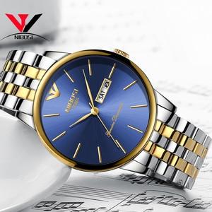 Image 4 - Relogio Masculino NIBOSI Luxury Simple นาฬิกาผู้ชายผู้ชายสแตนเลสปฏิทินวันที่และวันแฟชั่นนาฬิกา 2018 Saat