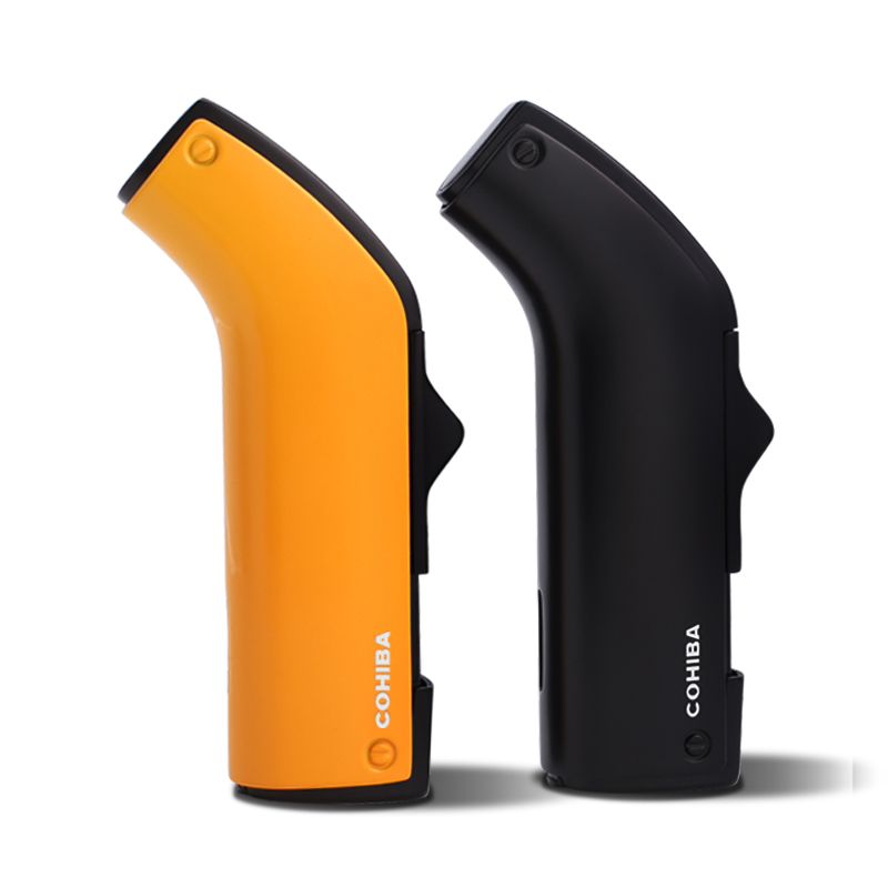 COHIBA Gadgets Windproof 2 Torch Jet Flame Cigar Lighter wit