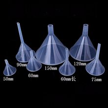 50mm 60mm 75mm 90mm 120mm 150mm Short Stem Long Stem Plastic Funnel For Kitchen Lab Teaching(China)