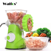 WALFOS High Quality Multifunctional Home Manual Meat Grinder For Mincing Meat/Vegetable/Spice Hand cranked Meat Mincer Sausage