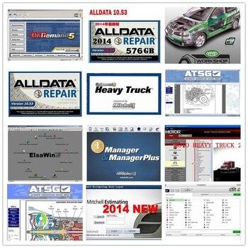 Alta calidad Alldata 10,53 Mit/chell OD5 software todos los datos mit/chell camión pesado Elsawin ATSG herramienta de reparación de automóviles 1tb HDD