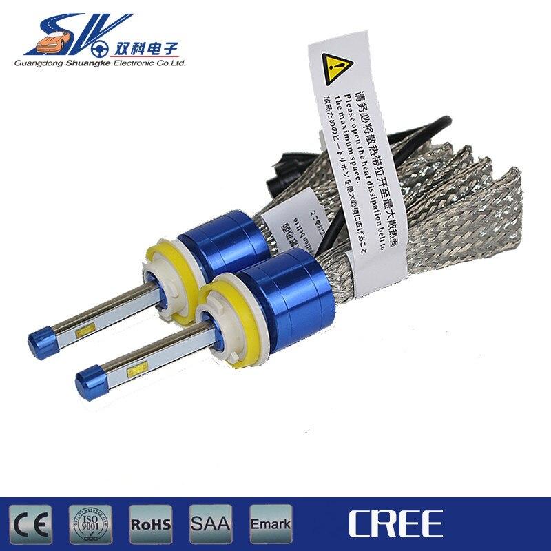 2pcs High quality super bright Janpan OEM LED 6000K headlight bulbs kits H1 H3 H4 H7 H8 H9 H11 9005 9006 9012