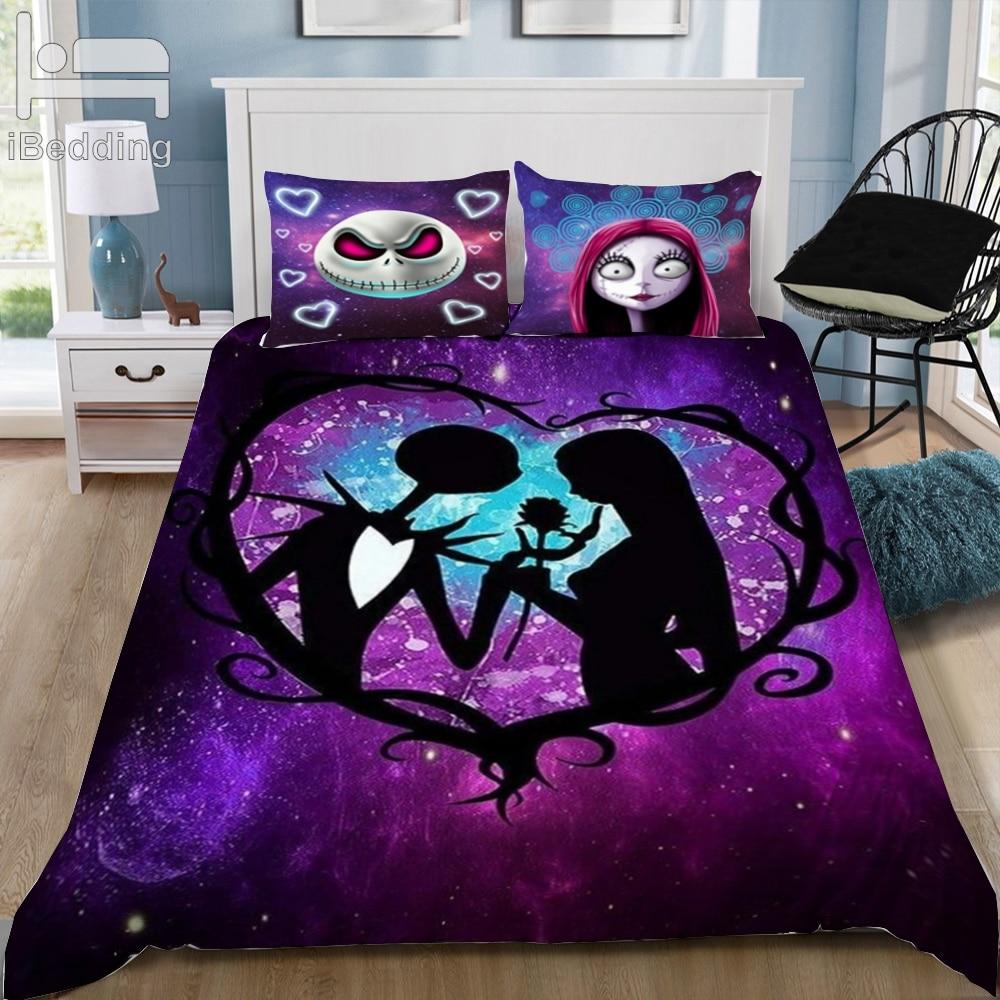 Nightmare Before Christmas 3d Bedding Set Printed Duvet