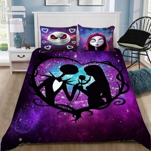 Nightmare Before Christmas 3D Bedding Set Printed Duvet Cover Set Queen King Twin Size Dropshipping Custom