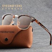 Classic Half Metal Frame Polarized Sunglasses Men Women Semi