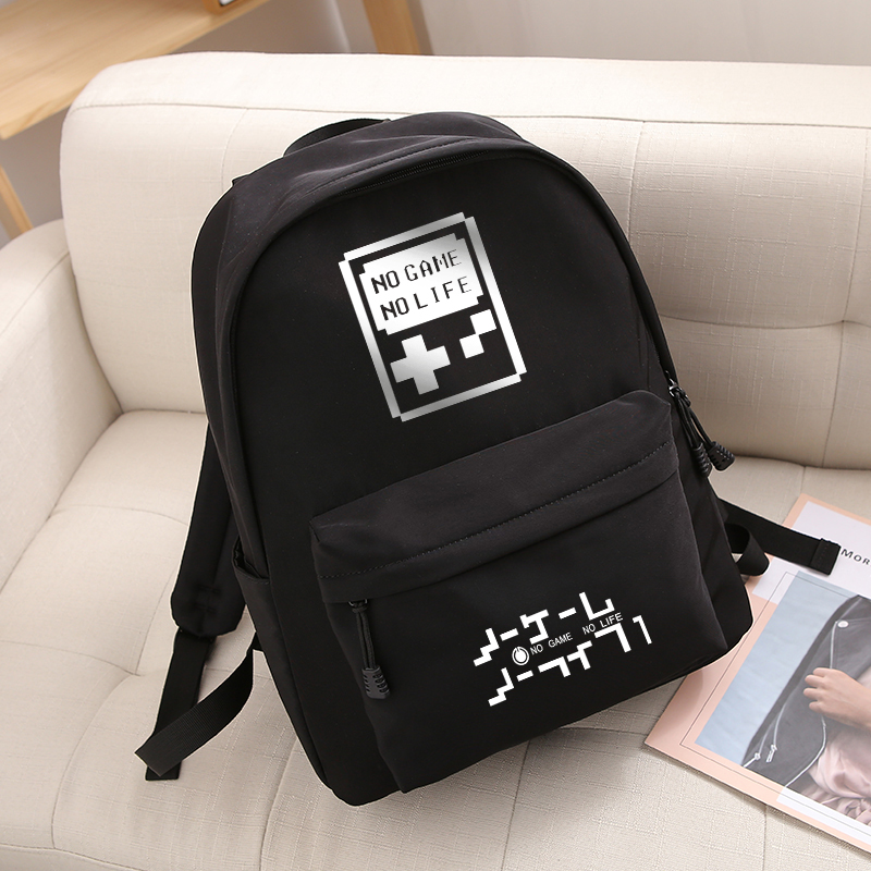 Anime No Game No Life Korean Cartoon Anime Schoolbag Male and female Student Travel bag Waterproof Backpack