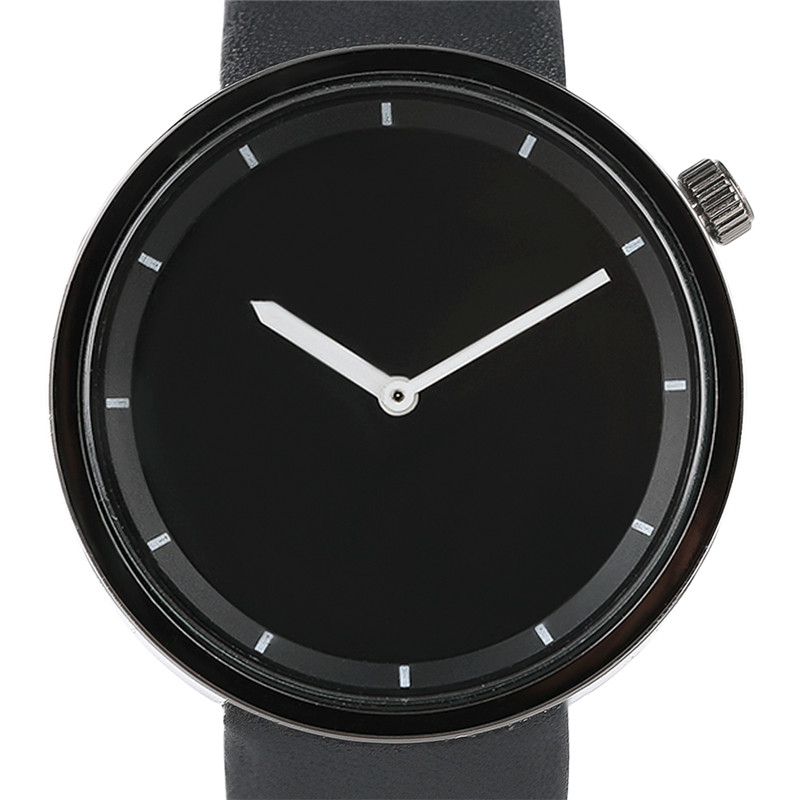 Simple Fashion Men Women Quartz Wristwatch PU Leather Band Casual Dress Watches Modern Style Gift Black White Round Dial Hot high quality fashion women quartz watches simple design round dial pu leather watchband elegant ladies casual watch best gift