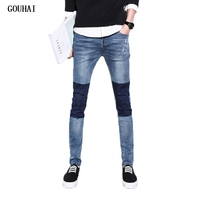Patchwork 28 40 Size Quality 2017 Spring New Arrival Ripped Jeans For Men Fashion Brand Men