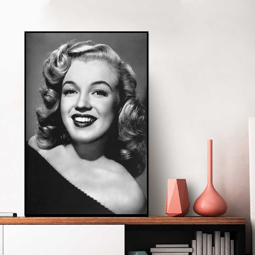Classic Black And White Painting Marilyn Monroe Canvas Print Painting Posters Wall Picture For Living Room Home Decor
