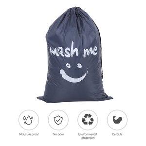 Image 5 - Organizator torba duża składana nylonowa torba na pranie brudne na ubrania torba z zamknięciem na sznurek do pralni domowej torba
