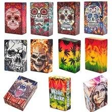 Необычные дизайн череп Пластик мягкие Портативный портсигары для 20 сигарет аксессуары Для мужчин Для женщин подарочные зажигалки случае табакерку